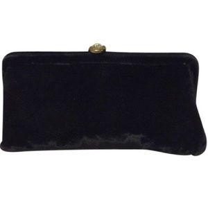JR U.S.A Bags - JR Vintage Black Velvet Clutch